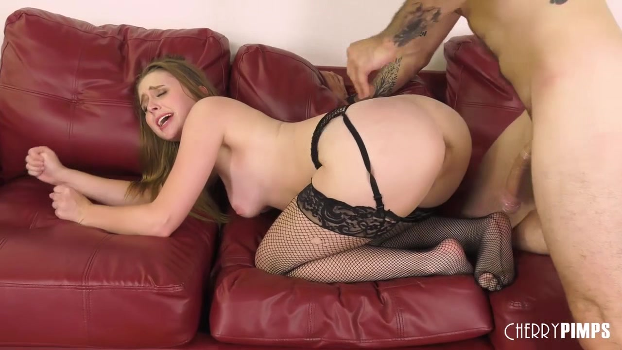 Brunette Babe Deepthroating and Riding Big White Dick in Live Action