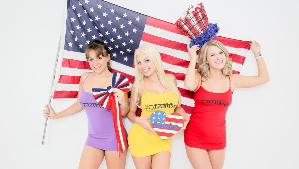 ImmoralLive Video: Britney Amber, Chrissy Nova And Dixxie Belle