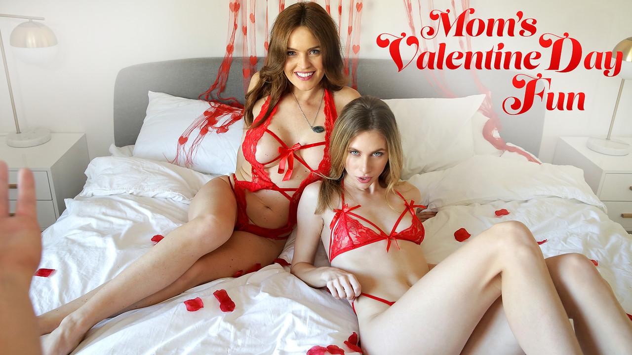 Anya Olsen & Krissy Lynn in Moms Valentines Day Fun - MomsTeachSex