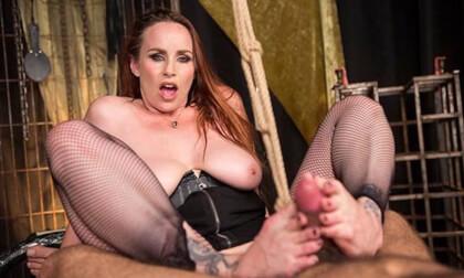 Bella Rossi in Bella Rossi's Foot Fetish Dungeon POV - KinkVR