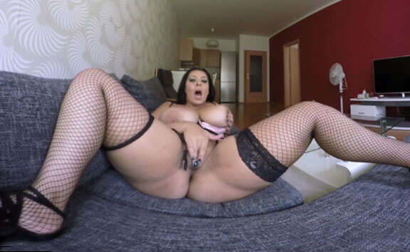 Anastasia Lux in Tattooed Girl With Big Breats On The Couch - VRpussyVision