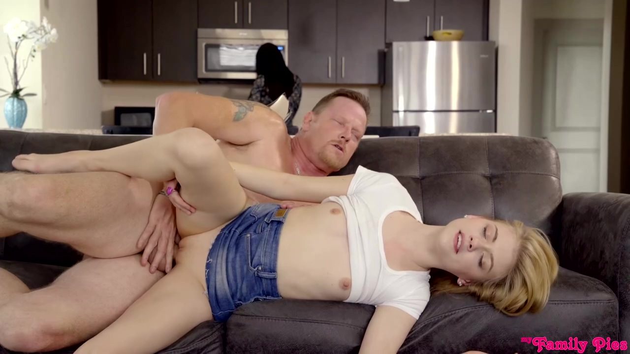 Hannah Hays is fucking her step- father, every once in a while, because she likes his cock