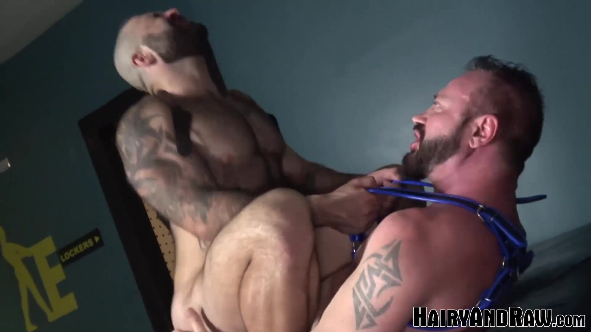 HAIRYANDRAW Muscular Pig Atlas Grant Rides Hung Daddy Raw