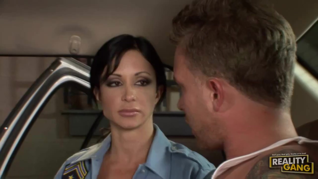 Jewels Jade is working as a cop and quite often having ex with various handsome guys