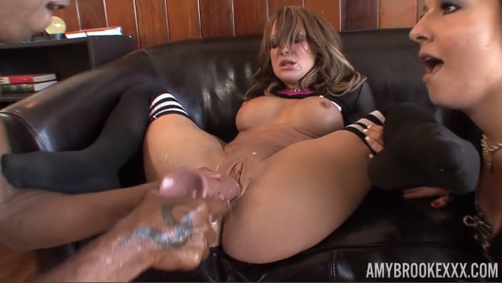 Amy Brooke's Ass Gets Wrecked In Hardcore Threesome - AmyBrookeXXX