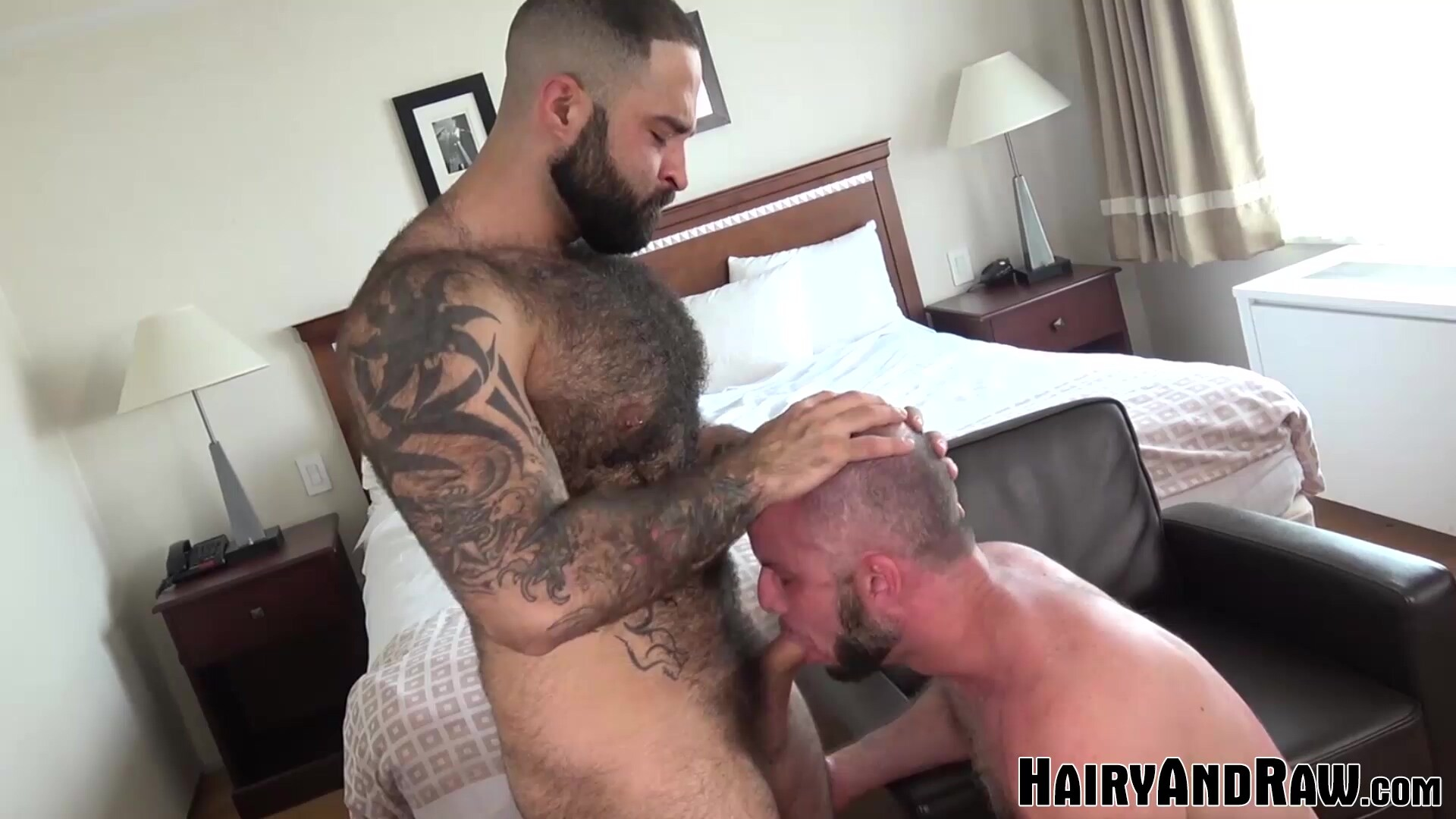 HAIRYANDRAW Tattooed Atlas Grant Bareback Pounded After BJ
