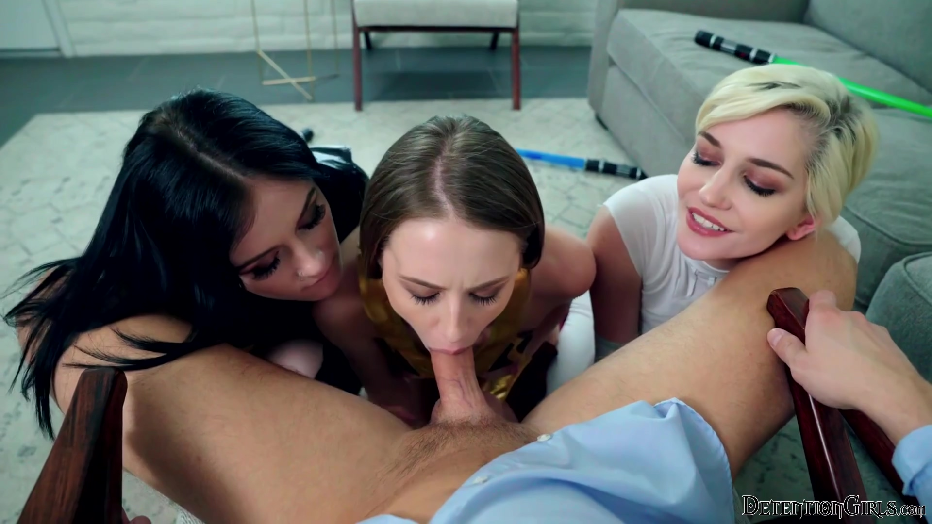 Star Whores May The 4th Be With You In Hd With Rosalyn Sphinx, Skye Blue And Abby Byens