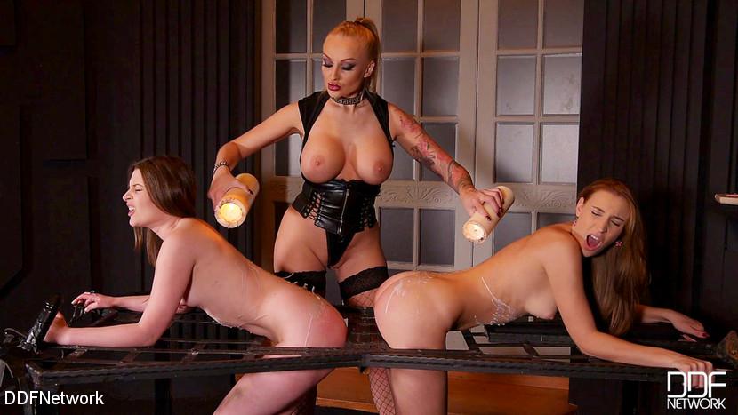 Kayla Green & Liona Levi & Lulu Love in Smoking Hot: Lesbian Teens Ass Fucked By Busty Dominatrix - KINK