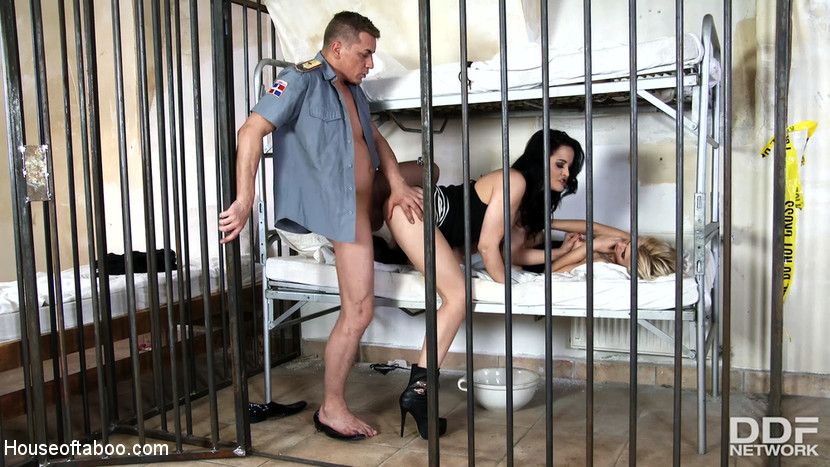 Olivia Jager & Steve Q & Dolly Diore in Prison Cell Control - New Face Humiliated And Ass Fucked - KINK