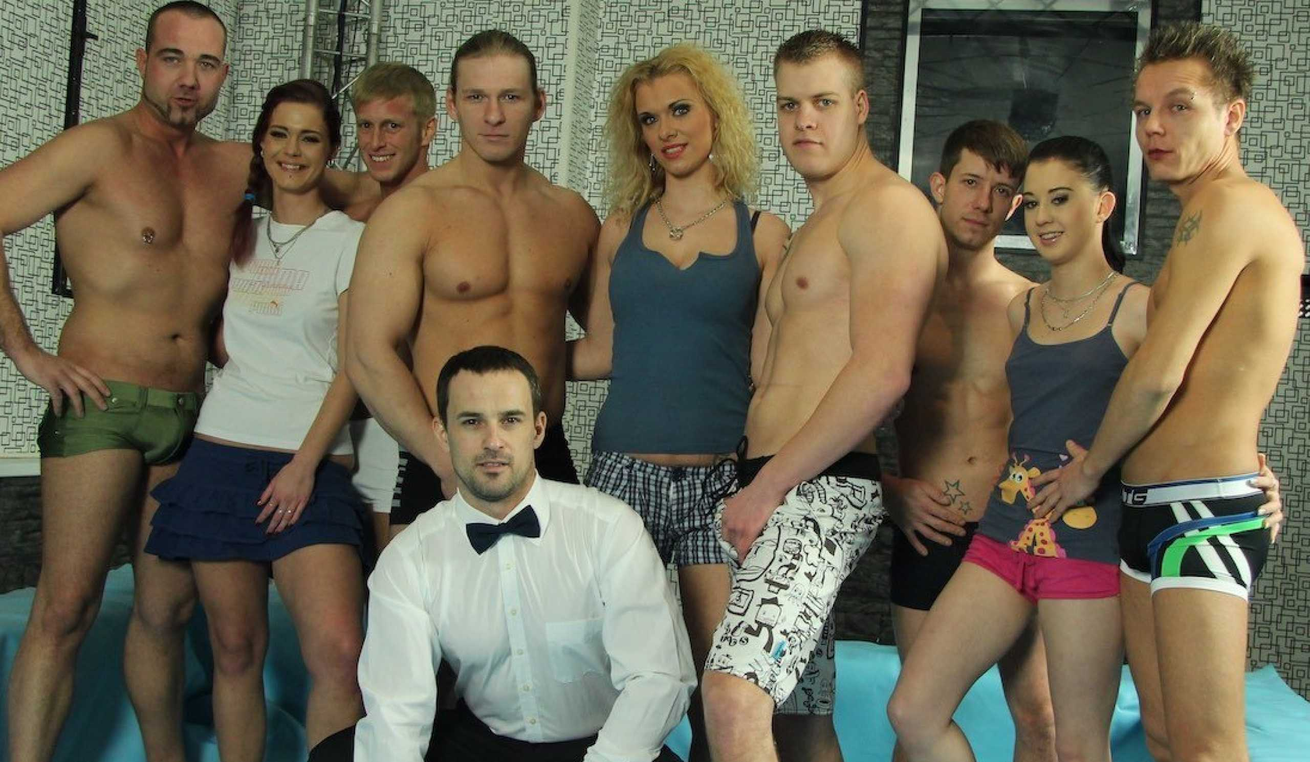 Denis Reed & Josef & Lollypop & Mr. M & Ondřej in Hot Party For Bissexual Horny Couple - Porncz
