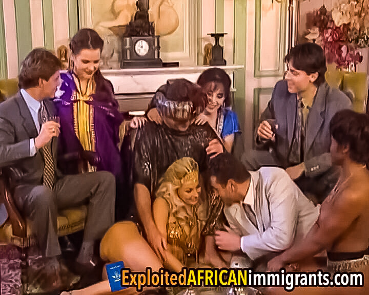 Hot group sex at vintage dress-up party
