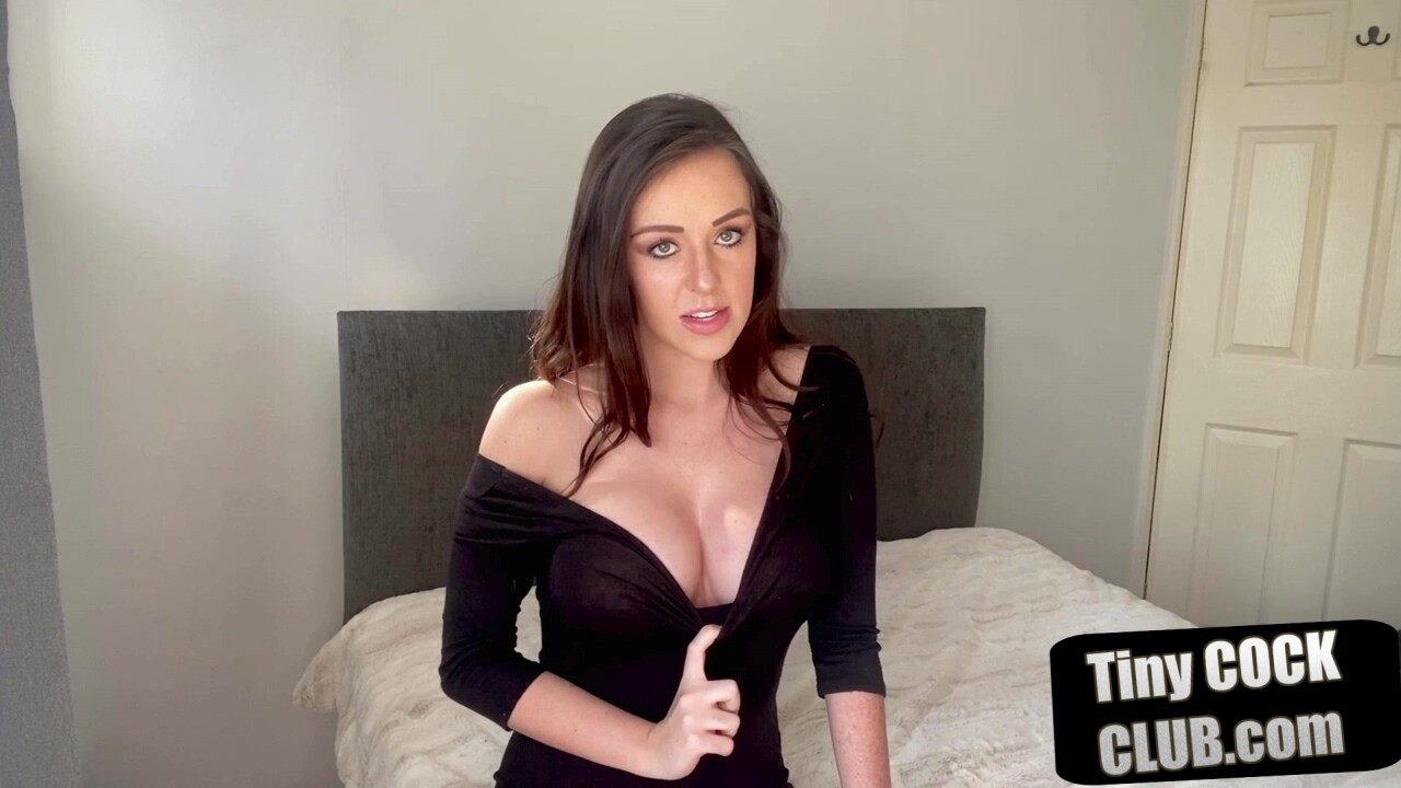 Busty british sph domme humiliates tiny cock men
