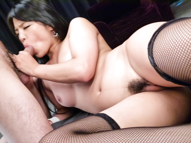 Hot Eririka Katagiri drives whole cock in her tiny holes