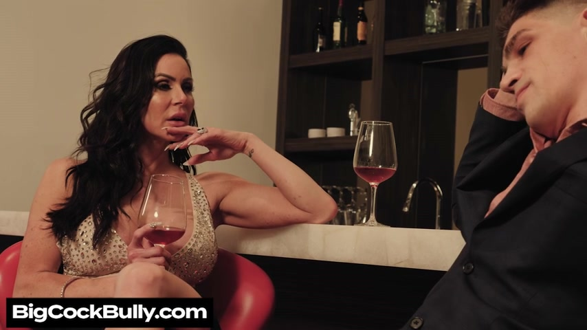 Kendra Lust fucks in order to stop her man's bully - bigcockbully