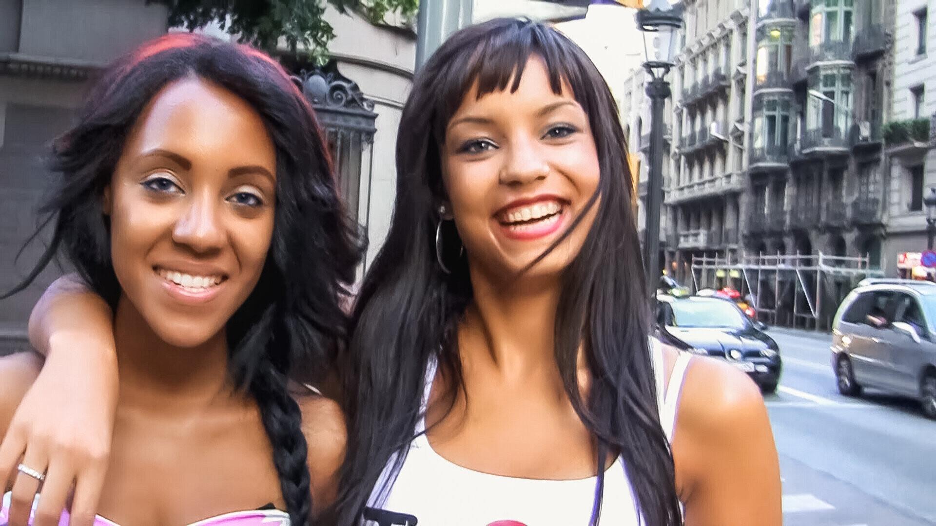 Threesome with Horny Ebony Latina BFFs in Barcelona