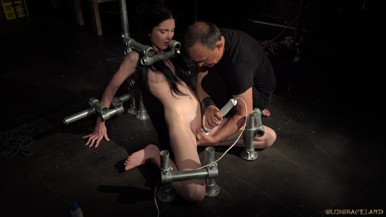Bondage Teen in Hard BDSM punishment naughty behavior