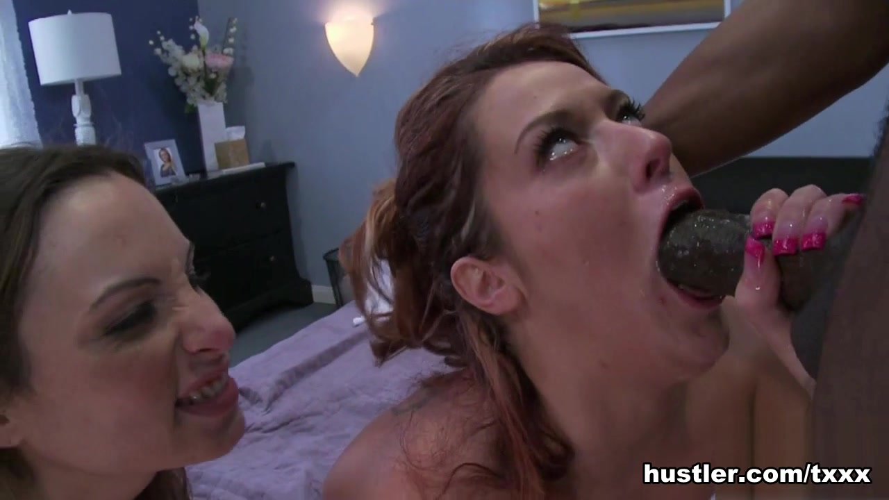 Trisha Rey in 2 Girls 1 Big Black Cock - Hustler