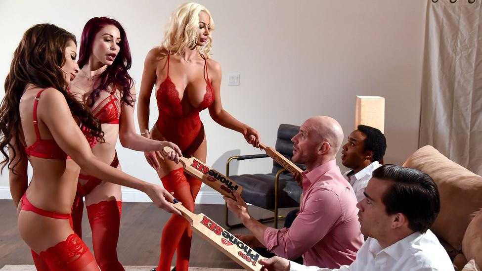 Madison Ivy & Monique Alexander & Nicolette Shea & Johnny Sins in 1 800 Phone Sex: Line 8 - BrazzersNetwork