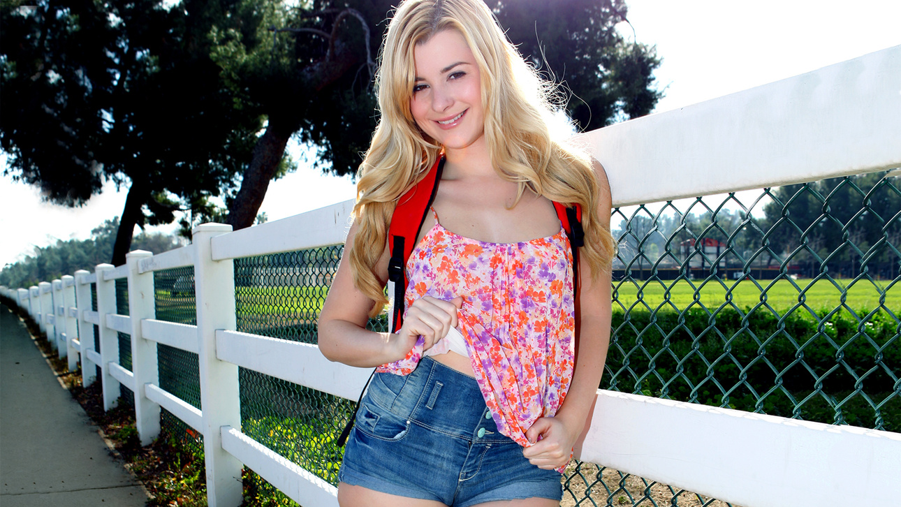Charlyse Angel & Seth Gamble in School Girl Street Pickup